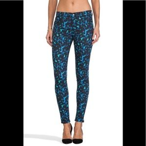 J Brand Snow Leopard Super Skinny Pants Mid-Rise